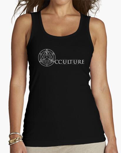 Logo ocultura camiseta blanca mujer de la parte superior