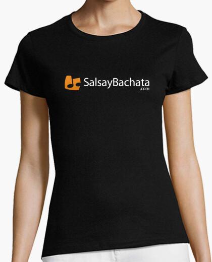 Tee-shirt logo salsaybachata.com mélange