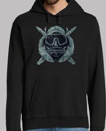 logo vintage nous plongeur de combat