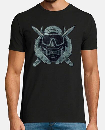 logo vintage us plongeur de combat