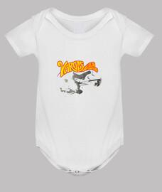 Logo y guitarra, body bebé