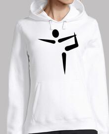 logotipo de gimnasia de yoga