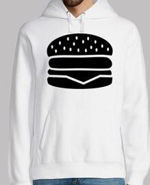 logotipo de hamburguesa con queso