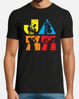 logotipo de jazz colorido moderno