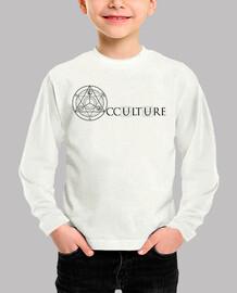 logotipo de la camisa ocultura niño negro