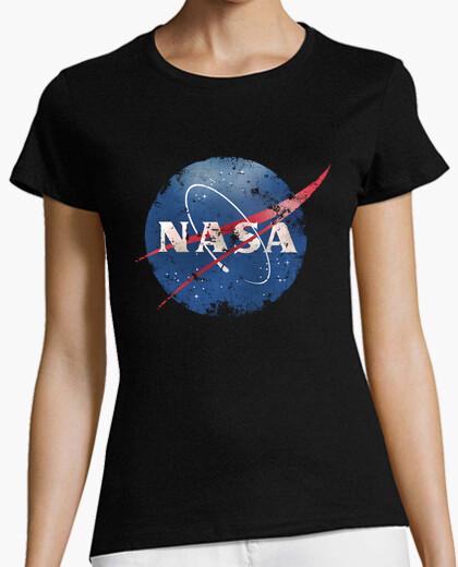 Camiseta logotipo de la nasa - erosionado - antiguo - vintage - espacio