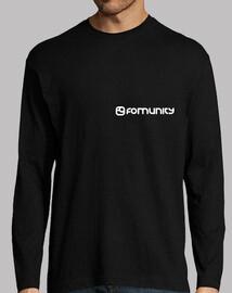 Logotipo Fomunity discreto manga larga chico