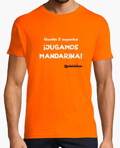 Camiseta LOLASO JUGAMOS MANDARINA chico naranja