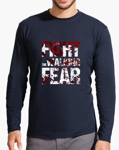 Long manga t shirt man fight the walking fear t-shirt