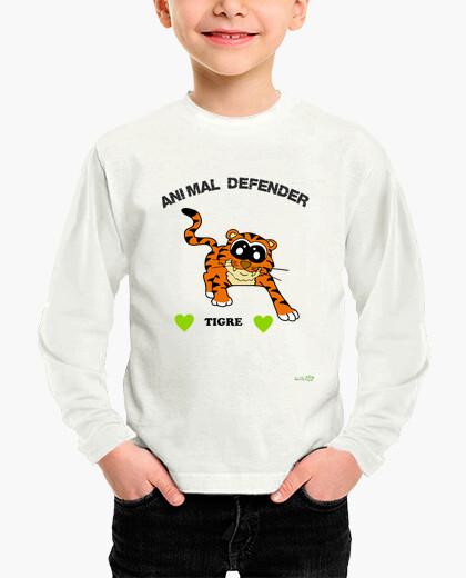 Long manga tiger t shirt - animal defender...