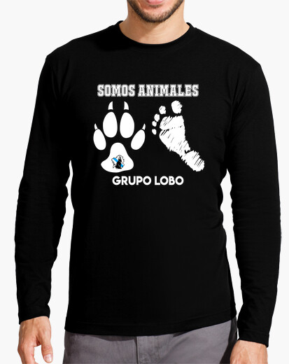Long sleeve t-shirt . design we are animals