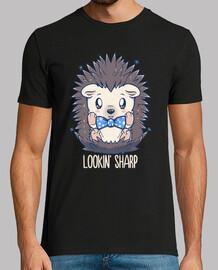 lookin sharp dapper hedgehog - camisa de hombre