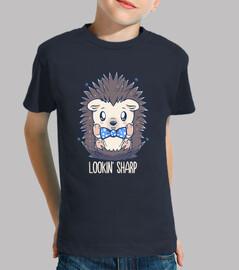 lookin sharp dapper hedgehog - camisa de niños