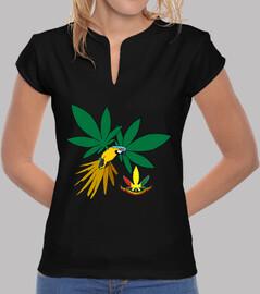 Lorete camiseta cuello estilo chino Verde (chica)