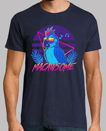 loro guacamayo macawsome - camisa para hombre