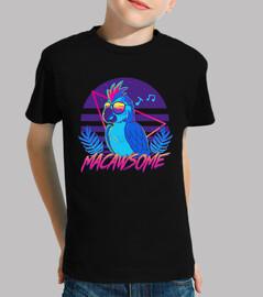 loro guacamayo macawsome - camisa para niños