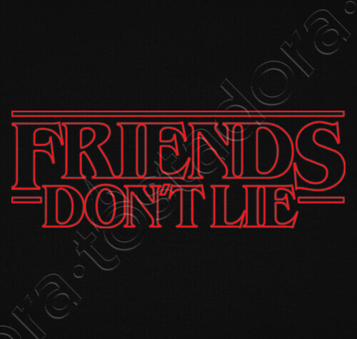 Friends Don T Lie Stranger Things T Shirt Tostadora Co Uk