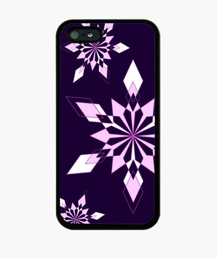 Funda iPhone los copos de nieve - púrpura