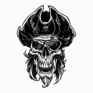 Tee-shirts cráneo pirata