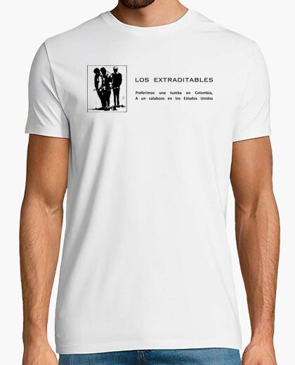 Tee-shirt Los Extraditables - Nous préférons une tombe en Colombie à une prison aux États-Unis