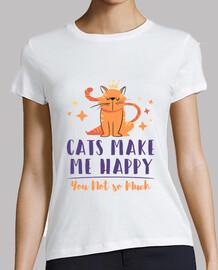 los gatos me hacen feliz tu no mucho