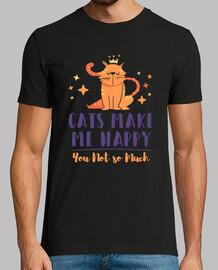 los gatos me hacen feliz tu no mucho amante do los gatos domésticos