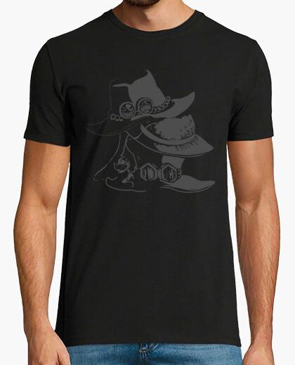 Camiseta los hermanos sombreros - una pieza de anime