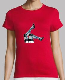 Los hierros son SEXIS. Camiseta manga corta mujer