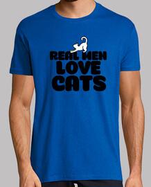 los hombres de verdad aman los gatos