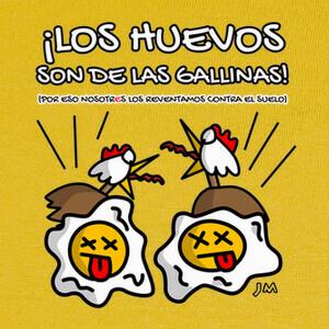 Camisetas Los Huevos son de las Gallinas
