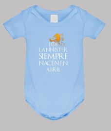 Los Lannister Siempre en Abril bebé
