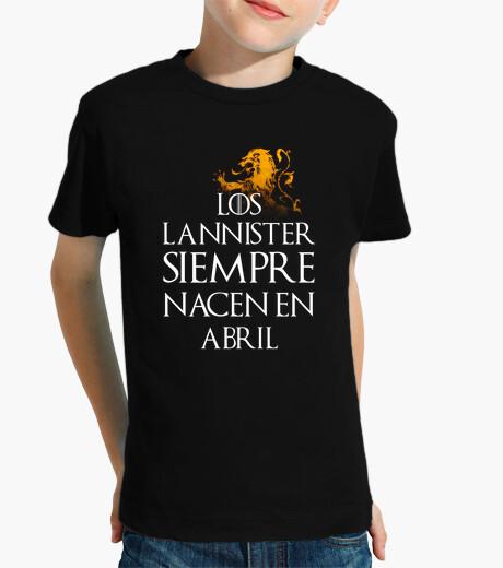 Ropa infantil Los Lannister Siempre en Abril niños