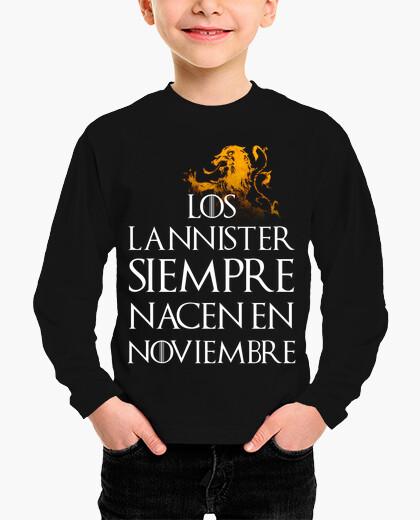 Ropa infantil Los Lannister Siempre en Noviembre