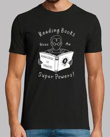 los libros me dan superpoderes! camisa para hombre