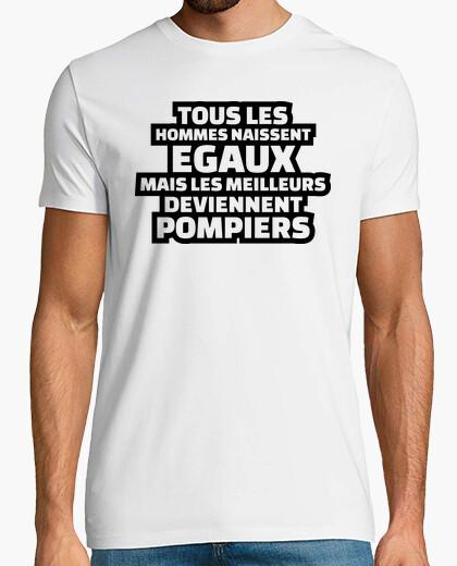 Camiseta Los mejores se convierten en bomberos