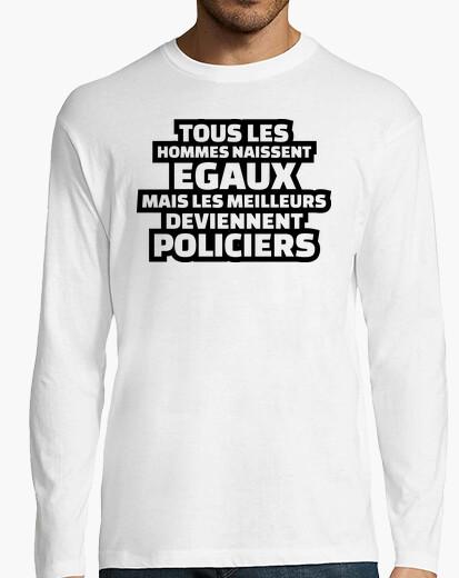 Camiseta los mejores se convierten en policias