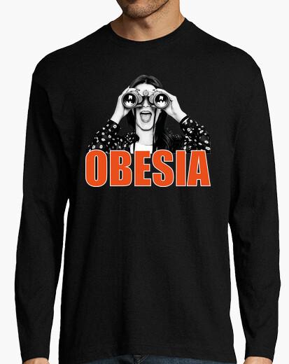 Los prismáticos fondo oscuro - Camiseta de manga larga