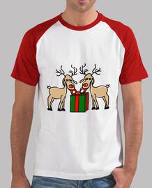 Los renos de Meneses. Hombre, estilo béisbol, blanca y roja