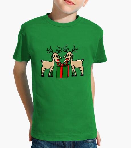 Ropa infantil Los renos de Meneses. Niño, manga corta, verde