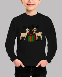 Los renos de Meneses. Niño, manga corta, verde