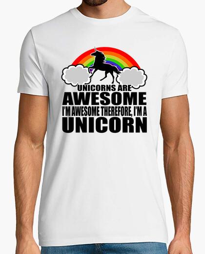Camiseta los unicornios son impresionantes