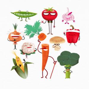 T-shirt los vegetales