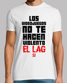 Los Videojuegos No Te Hacen Violento Camiseta Blanca (Personalizable)