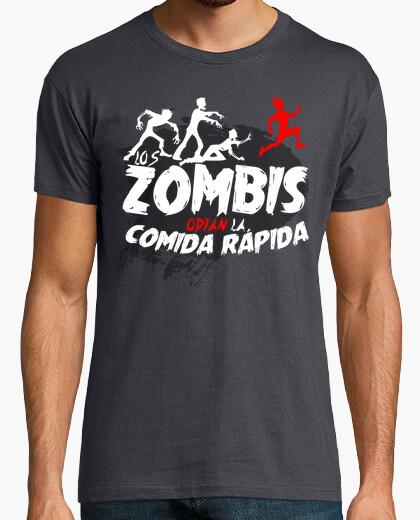 Camiseta Los Zombis odian la comida rápida