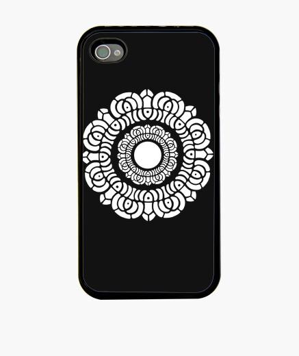 Funda iPhone loto blanco iphone 4 carcasa negro