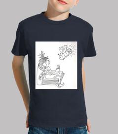 Loula et la fée qui lit : t-shirt imprimé garçon