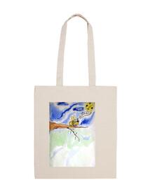Loula la vie est belle : sac en toile imprimé