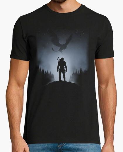 Tee-shirt loup blanc