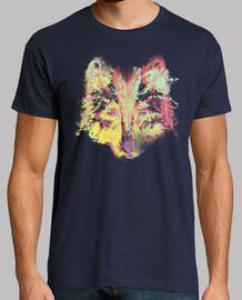 loup explosion de couleurs