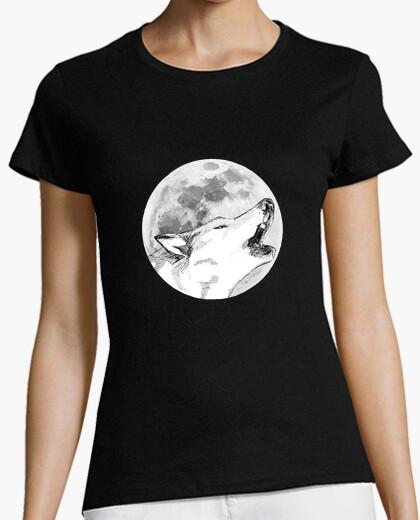 Tee-shirt loup hurlement